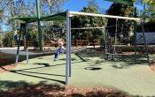 Swing set at John Scott Park Samford