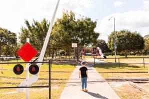Ewing Park train and playground