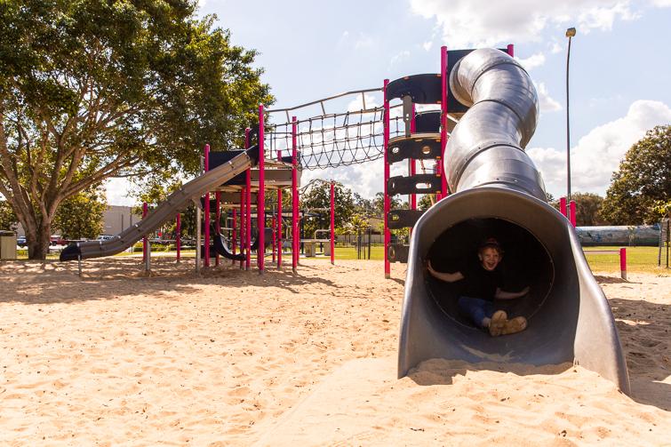 Ewing park tunnel slide