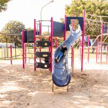 Ewing park curved slide