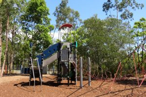 Big play structure in a park