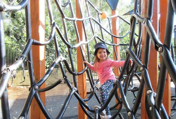 lower moora park climbing net, toddler climbing net