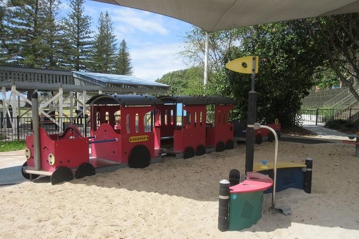 railway place stationary train park