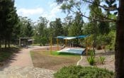 Park with sandpit and play equipment