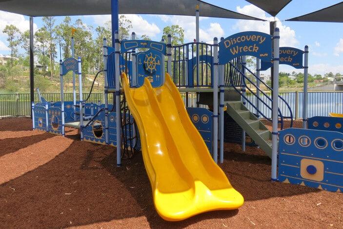 slides in a playground