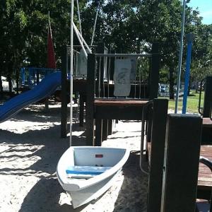 boat playground at wynnum in brisbane