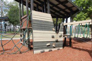 kids wooden climbing wall