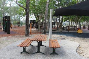 picnic table at booker park