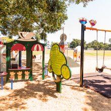 Bulimba Memorial Park playground swings