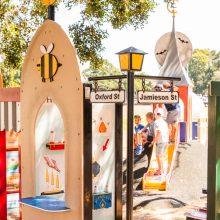 Bulimba Memorial Park playground play street signs