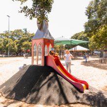 Bulimba Memorial Park playground mini slide
