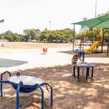 Bulimba Memorial Park playground musical equipment