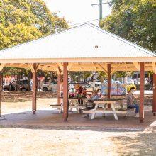 Bulimba Memorial Park playground seating