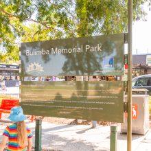 Bulimba Memorial Park playground sign