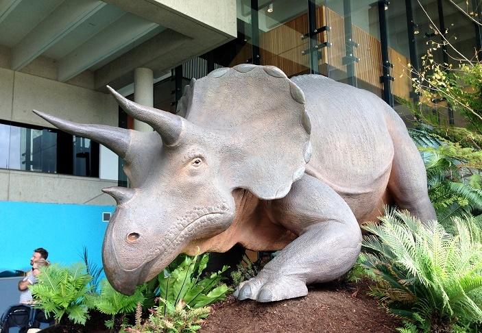 dinosaur at the queensland museum