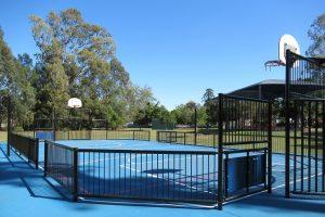 Half court basket ball court