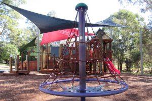 Gristead Park climbing net