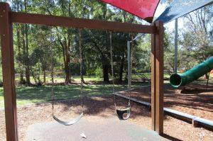 two kids swings
