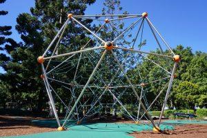 massive climbing net at pine rivers park
