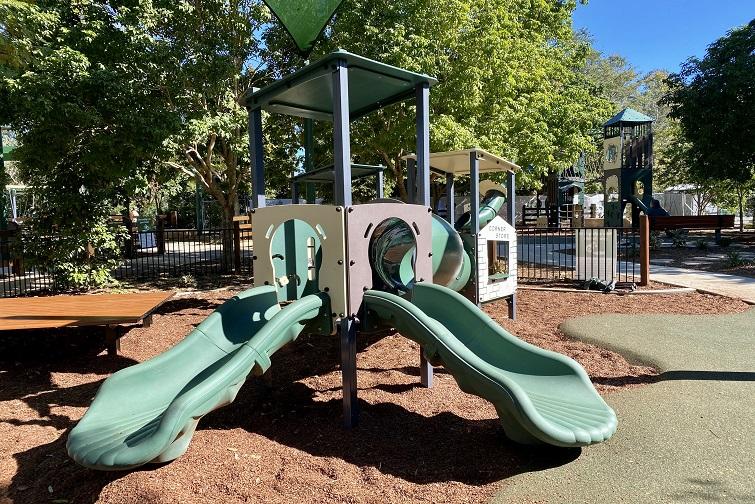 playground equipment suitable for younger children at John Scott Park Samford