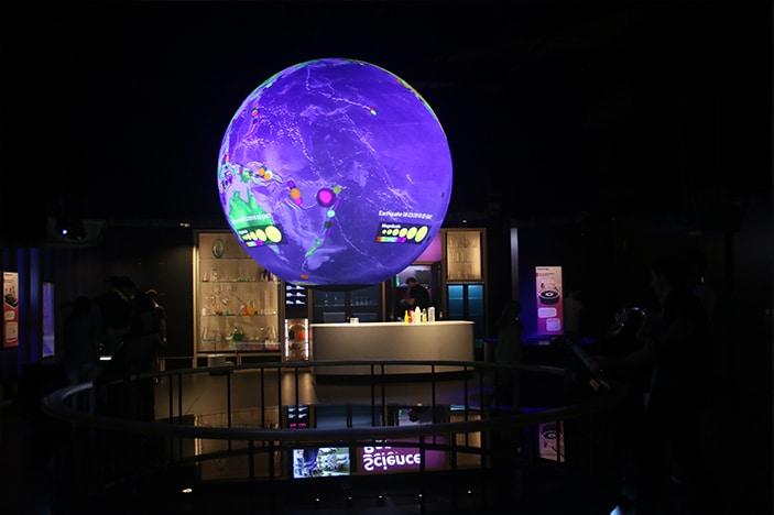 earth globe sciencentre