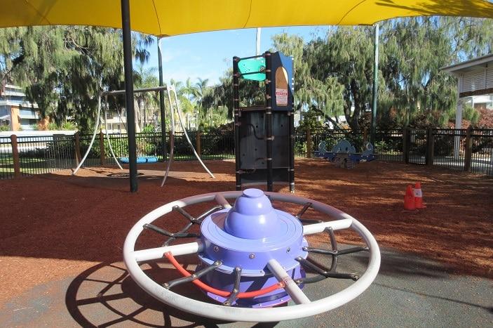 spinner playground equipment at suttons beach