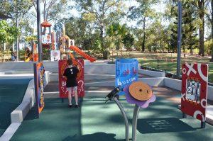 playground features at Teralba park mitchelton