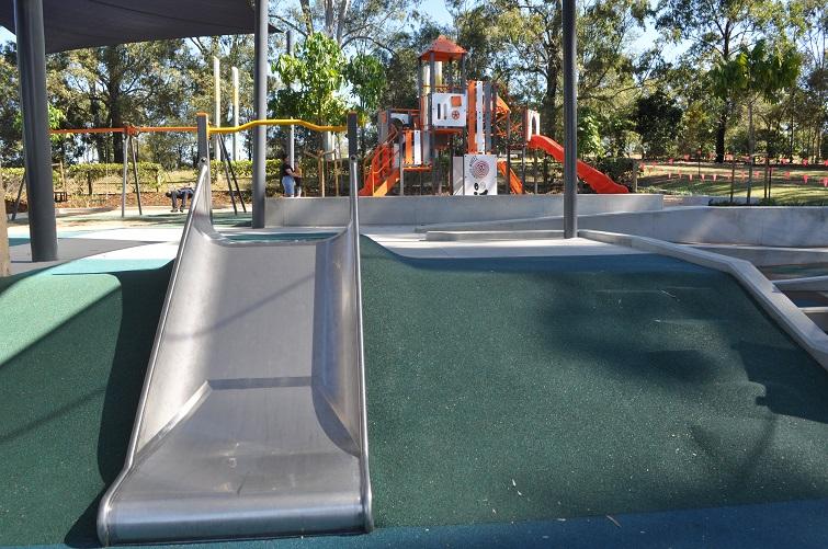 slide built into green mountain