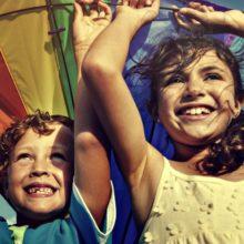 coloured kit, kids flying kites, kites and kids, brisbane kite festival