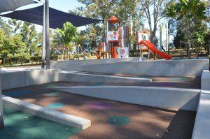 ramp leading to playground