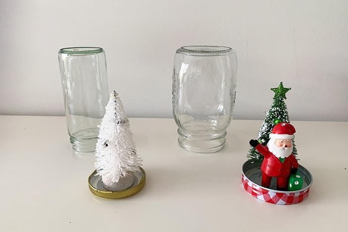 making a snow globe