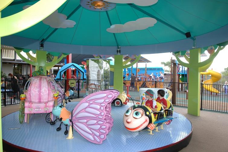 playground carousel.