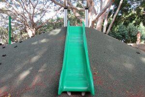 green slippery slide