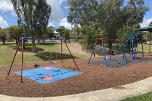swings in an outdoor brisbane playground.