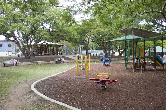 Neal McCrossan Park in Paddington, fenced playground, Brisbane playground