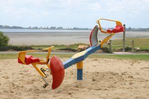 swinging seesaw playground equipment in beth bboyd park.