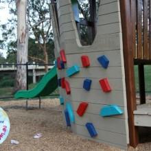 fenced playground