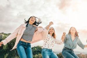 Happy Teenager Girls