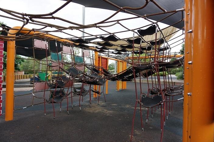 climbing nets t a Tennyson Playground Brisbane