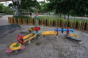 playground with kids backhoe, ken fletcher park