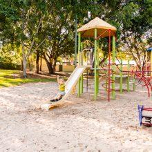 Forestglen park original playground slide and rocker