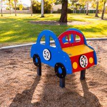 Forestglen park new playground car