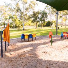 Forestglen park new playground musical equipment