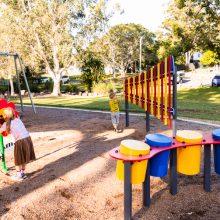 Forestglen park new playground musical play