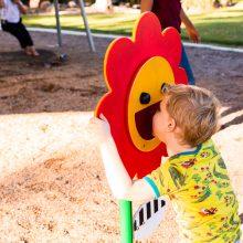 Forestglen park new playground sound flower