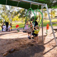 Forestglen park new playground swings