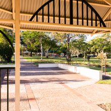 Forestglen park gazebo and pathways