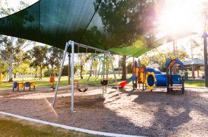 Forestglen Park new playground shade sail