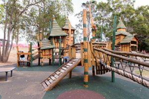 Impressive fort style playground