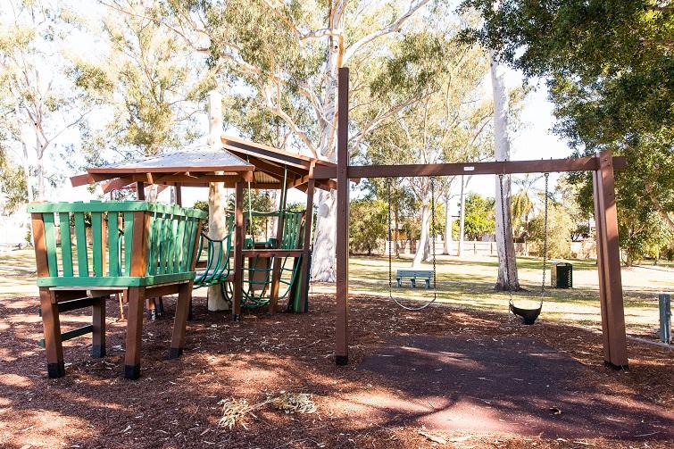 timberland park playground and swings